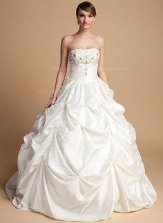 Wedding Dresses - $192.99 - Ball-Gown Sweetheart Floor-Length Taffeta Wedding Dress With Beadwork (002014716) http://jjshouse.com/Ball-Gown-Sweetheart-Floor-Length-Taffeta-Wedding-Dress-With-Beadwork-002014716-g14716