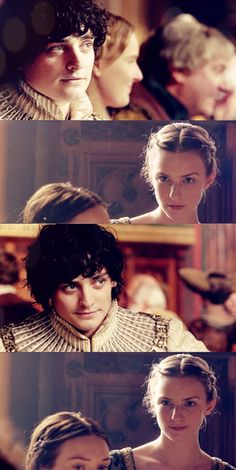 Richard and Anne - The White Queen Not the actors, but the mute exchange between the two reminds me a little of Iain and Ellie.