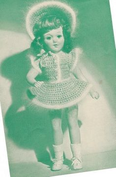"""Vintage Crochet PATTERN to make - 14"""" Doll Clothes Angora Party Skirt Jacket Mary Hoyer Mayree. This is a pattern and/or instructions to make the item only. by Vintage Home Arts, http://www.amazon.com/dp/B00A85JWFG/ref=cm_sw_r_pi_dp_R4nVrb0VJA0R1"""
