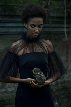 "afrogoth: "" Dark Beauty Magazine Photographer: Stephan Kotas Photography Stylist: Candice Lewin Makeup: Tomas Moucka Model: Zohara """