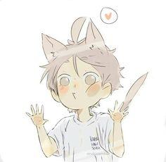 Image about cute in Chibi boys by ivoah on We Heart It Haikyuu Manga, Sugawara Haikyuu, Daisuga, Haikyuu Fanart, Anime Chibi, Manga Anime, Fanarts Anime, Anime Guys, Anime Characters