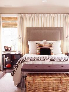Bed in front of window?