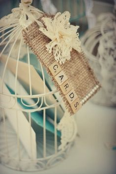 Vintage Wedding Birdcages   Recycled Bride