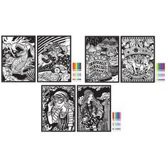 Stuff2Color Inner Nature 14-Piece Velvet Coloring Poster Set ...