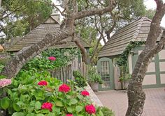 CARMEL BY THE SEA: Carmel by the Sea - Fairy Tale Cottages of Hugh Comstock - Names Locations and Map