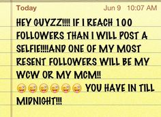 Hurry if ur my last follower