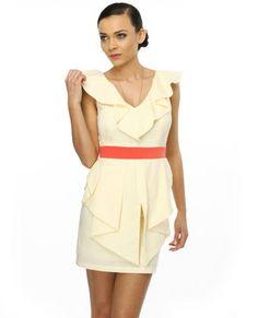 Lemon Macaroon Cream Dress by Lulu // sadly sold out