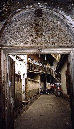 Behind the wooden door, Zanzibar, Tanzania