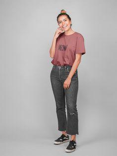 Funny Cat Shirt for Women Cat Shirts, Funny Cats, Normcore, Sweatshirt, Women, Fashion, Jackets, Cotton, Moda