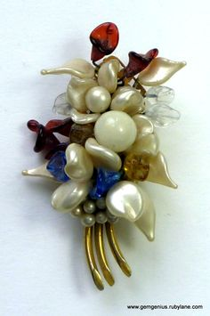 Flower Brooch possibly by Louis Rousselet