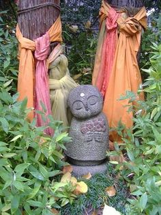Jizo is the protector of women, children and travelers between this life and the next.