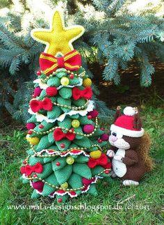 Kerstboom en eekhoorn