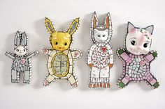 Just love these designs by mosiac ceramicist Cleo Mussi. Don't miss her at COLLECT contemporary art fair at Saatchi Gallery May 2014