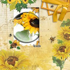 Layout using {Sunflower Sayings} Digital Scrapbook Collection by Clever Monkey Graphics available at Gingerscraps http://store.gingerscraps.net/sunflower-sayings-by-Clever-Monkey-Graphics.html #clevermonkeygraphics