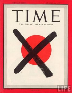 """(via Twitter) """"TIME Magazine Cover after the Fall of Japan, August 1945. pic.twitter.com/nOPVpaJSKG """""""