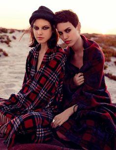 Alana Bunte & Tatiana Cotliar by David Mushegain for Vogue Russia