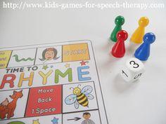 Printable Activities to teach rhyming.