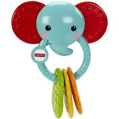 The Fisher Price Elephant Teether is an adorable teether that gives relief from teething due to soft surfaces and textures and helps to soothe baby's sore gums
