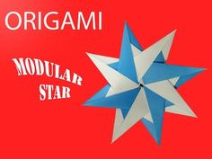 How to Make Origami Modular Star   step by step video making tutorial DIY! - YouTube