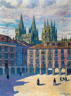 Darío de Regoyos y Valdés: La catedral de Burgos por la mañana