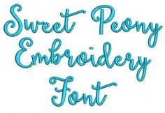 Sweet Peony Embroidery Font