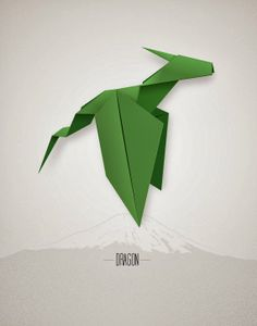 Best Baby Shower Gifts - origami dragon print