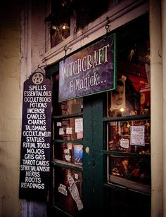Witchcraft store New Orleans. I seriously need to go to New Orleans for a visit.. Maybe find more believers