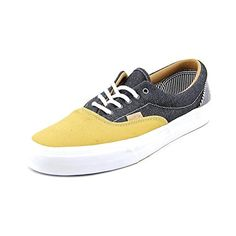 Vans Unisex Era Ca Twill Sneakers Stripeshoneymustard M115 W13 * Details can be found by clicking on the image.