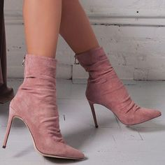 Extra Off Coupon So Cheap Womens Suede Leather Stiletto High Heel Shoes Zipper Boots Pointed toe Elegant Socks And Heels, High Heel Boots, High Heel Pumps, Pumps Heels, Stiletto Heels, Shoe Boots, Cute Shoes Boots, Moccasin Boots, Women's Boots