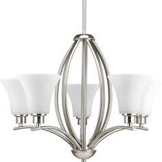 Value Collection 8001 Lumenno International Transitional 5-light Satin Nickel Chandelier   Overstock.com Shopping - The Best Deals on Chandeliers & Pendants