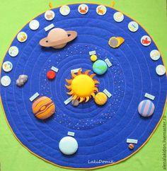 Развивающая игра Космос - синий, космос, солнечная система, солнце, планета, развивающая игрушка