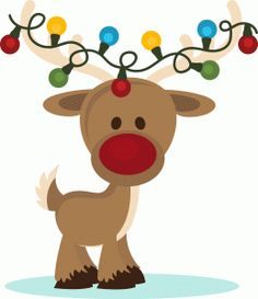 Silhouette Design Store - View Design #52259: christmas reindeer with lights