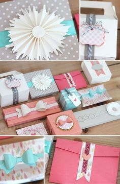 Simply Crafty: Gift Packaging Storyboard | Damask Love Blog Flower made with grass border die. #giftpackaging