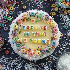 I don't really give a fuck, and my excuse is that I'm young and I'm only getting older so somebody should've told ya.  #drake #lyrics #cake #imonone #wethebestforever
