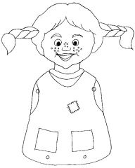 pippi longstocking coloring pages 6 razno