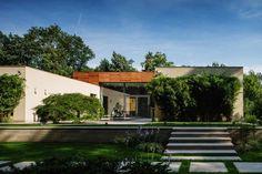 Современный одноэтажный дом Kiseleff 16 от студии DOOI Studio / CURATED.ru