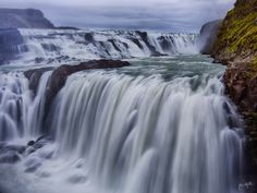 Gullfoss is a waterfall located in the canyon of Hvítá River in southwest Iceland. Gullfoss is one of the most popular tourist attractions in the country. by Peter Negatsch