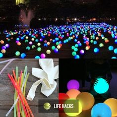 Glow sticks + Balloons for a cool party ;)