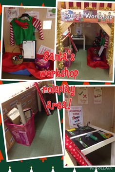 Santa's workshop roleplay area.