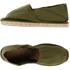 Operasei Espadrilles ($36) ❤ liked on Polyvore featuring shoes, sandals, military green, espadrille sandals, flat espadrilles, olive shoes, flat sandals and round cap