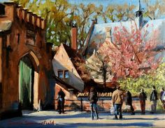 Love this oil painting from Ugallery. Sunny Day in Bruges by Jonelle Summerfield.