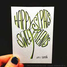 HAPPY ST. PATRICKS DAY #creativelycurated #lettering #typography #handmade #sandidevenny #sandidoodles