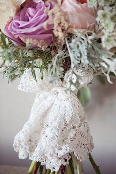 Lace bouquet wrap.