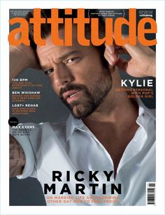 Ricky Martin covers the May 2018 issue of Attitude magazine. Ricky Martin, Cover Male, Cover Boy, Sam Smith, Justin Trudeau, American Idol, Superstar, Cover Shoot, Male Fashion Trends
