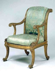 This fauteuil was part of a set supplied in 1777 to the Palais du Temple for the Turkish cabinet of the Count d'Artois.