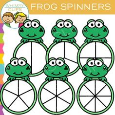 Have fun with this free frog spinners clip art. This set contains 12 image files, which includes 6 color images and 6 black & white images in png. All images are 300dpi for better scaling and printing.You will receive:6 color png images6 black & white png imagesTerms of Use:  The clip art may be used in educational commercial products.