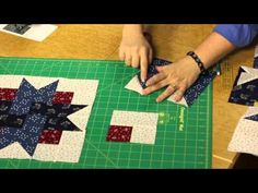Quilting Quickly: Four-Patch Star Quilt - Star Patterns - YouTube