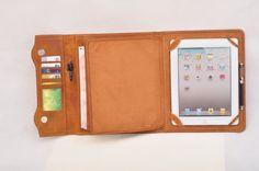 Genuine leather iPad case & iPad portfolio in by HomemadeLeather, $119.90