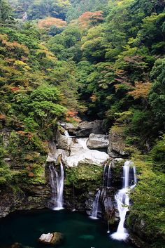 With a fat loss plan like this one bad day couldn't phase your progress! Places To Travel, Places To See, Wonderful Places, Beautiful Places, Places Around The World, Around The Worlds, Tokushima, Mountain Waterfall, Nature Artwork