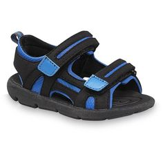 Athletech Toddler Boy's Andy Black/Blue Sport Sandal - Clothing, Shoes... ($6.99) ❤ liked on Polyvore